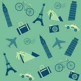 Travel seamless background Stock Image
