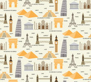 Travel seamless pattern Stock Image
