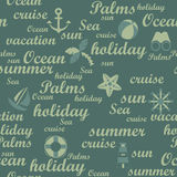 Travel seamless pattern Stock Photo