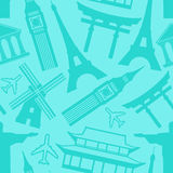 Travel seamless pattern Stock Images