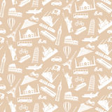 Travel seamless pattern 2 Royalty Free Stock Photos