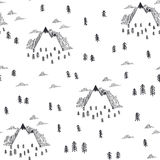 Travel seamless pattern in doodle style Royalty Free Stock Photo