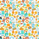 Travel seamless pattern Royalty Free Stock Photography