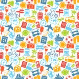 Travel seamless pattern Royalty Free Stock Images