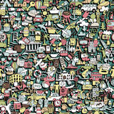 Travel seamless pattern Stock Image