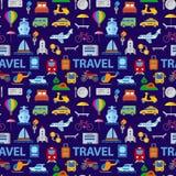 Travel seamless pattern royalty free stock image