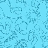 Travel seamless pattern vector collor Illustration Royalty Free Stock Image