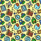 Travel seamless pattern vector illustration Stock Images