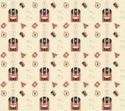 Travel seamless pattern. Travel and voyage seamless pattern background Stock Image