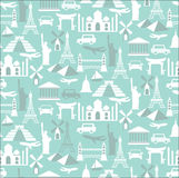 Travel seamless pattern Royalty Free Stock Image