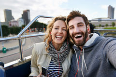 Travel selfie Royalty Free Stock Photos