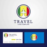 Travel Senegal Creative Circle flag Logo and Business card desig. N - This Vector EPS 10 illustration is best for print media, web design, application design vector illustration