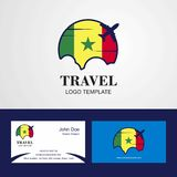 Travel Senegal Flag Logo and Visiting Card Design. This Vector EPS 10 illustration is best for print media, web design, application design user interface and vector illustration