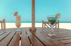 Vacation on Maldive islands Stock Images
