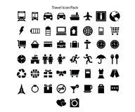 Travel series Icon pack design royalty free illustration
