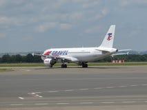 Travel Service Aerobus A320 Obraz Stock