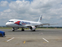 Travel Service Airbus A320 Stockbilder