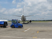 Travel Service Airbus A320 Royalty Free Stock Photography