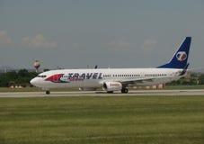 Travel Service Boeing 737-900 Obraz Stock