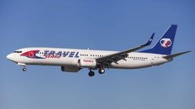 Travel Service Boeing 737-900ER Obraz Stock