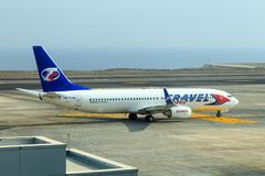 Travel Service Canaria Boeing 737 obrazy stock