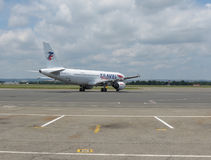 Travel Service flygbuss A320 Royaltyfri Bild