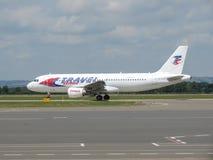 Travel Service flygbuss A320 Fotografering för Bildbyråer