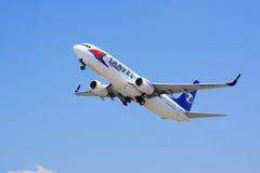 Travel Service 737 odlot Zdjęcia Royalty Free