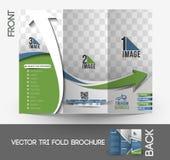 Travel Service Tri-Fold Brochure Stock Photography
