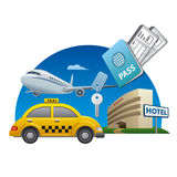 Travel services concept Royalty Free Stock Photos