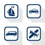 Travel set flat icon Stock Photo