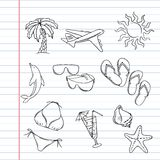 Travel set of hand draw tourism doodles Stock Photo