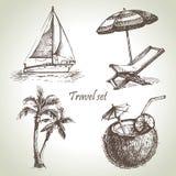 Travel set. Hand drawn illustrations Royalty Free Stock Image