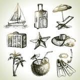 Travel set. Hand drawn illustrations Royalty Free Stock Photo
