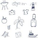 Travel set icon doodle Royalty Free Stock Photo