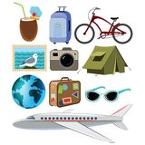 Travel set Stock Photos