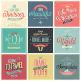 Travel set - labels and emblems. Stock Images