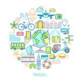 Travel set -line icons. Royalty Free Stock Photo