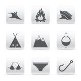 Travel set of logos Royalty Free Stock Images