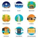 Travel Set. Modern flat design. Vector illustration. Stock Photo
