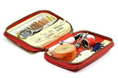 Travel sewing kit Stock Images
