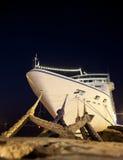 Travel ship at port. Stock Photo