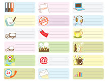 Travel shopping Icon symbol sticker note color Royalty Free Stock Photos