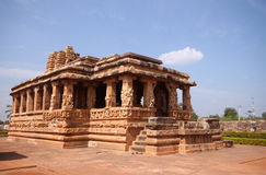 Travel shot of acient Badami stone temple Royalty Free Stock Photography