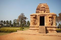 Travel shot of acient Badami stone temple Royalty Free Stock Photo