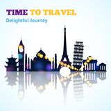 Travel Sight Silhouette Stock Images