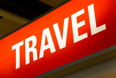Travel sign Stock Image