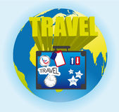 Travel sign Royalty Free Stock Photography
