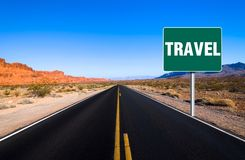 Travel sign Royalty Free Stock Images