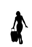 Travel silhouette Royalty Free Stock Image